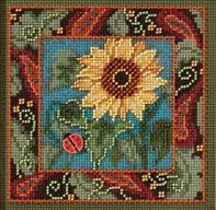 Sunflower 2013 Autumn Series beaded button kit Mill Hill