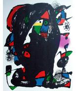 MIRO ORIGINAL LITHOGRAPH 4 IV w/COA. Joan Miró litógrafo invest or gift ... - $204.86