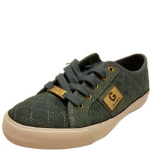 G By Guess Los Angeles Backer Lace-Up Sneakers Medium Blue Denim Fabric 6M - $32.99