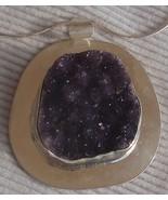 Amethyst crystal pendant hand made - $128.00