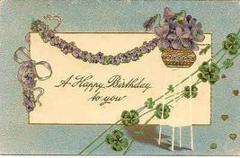 Happy Birthday Paul Finkenrath 1907 Vintage Post Card - $3.00