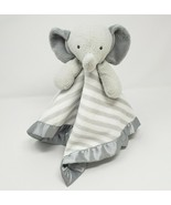 TARGET CLOUD ISLAND BABY ELEPHANT SECURITY BLANKET WHITE & GREY STRIPES ... - $45.82