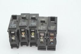 Lot Of 5 Mixed Siemens QP115 x 1, QP120 x 3, QP130 x 1 Circuit Breaker Used - $29.69