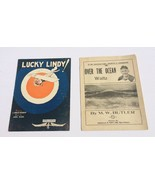 CHARLES LINDBERGH Sheet Music Lot  W/Photo Lucky Lindy Over The Ocean Waltz - $49.99