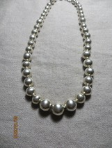 """Art Deco 1940's sterling Beaded Ball Graduated Choker necklace 925 sterling 17"""" - $109.99"""