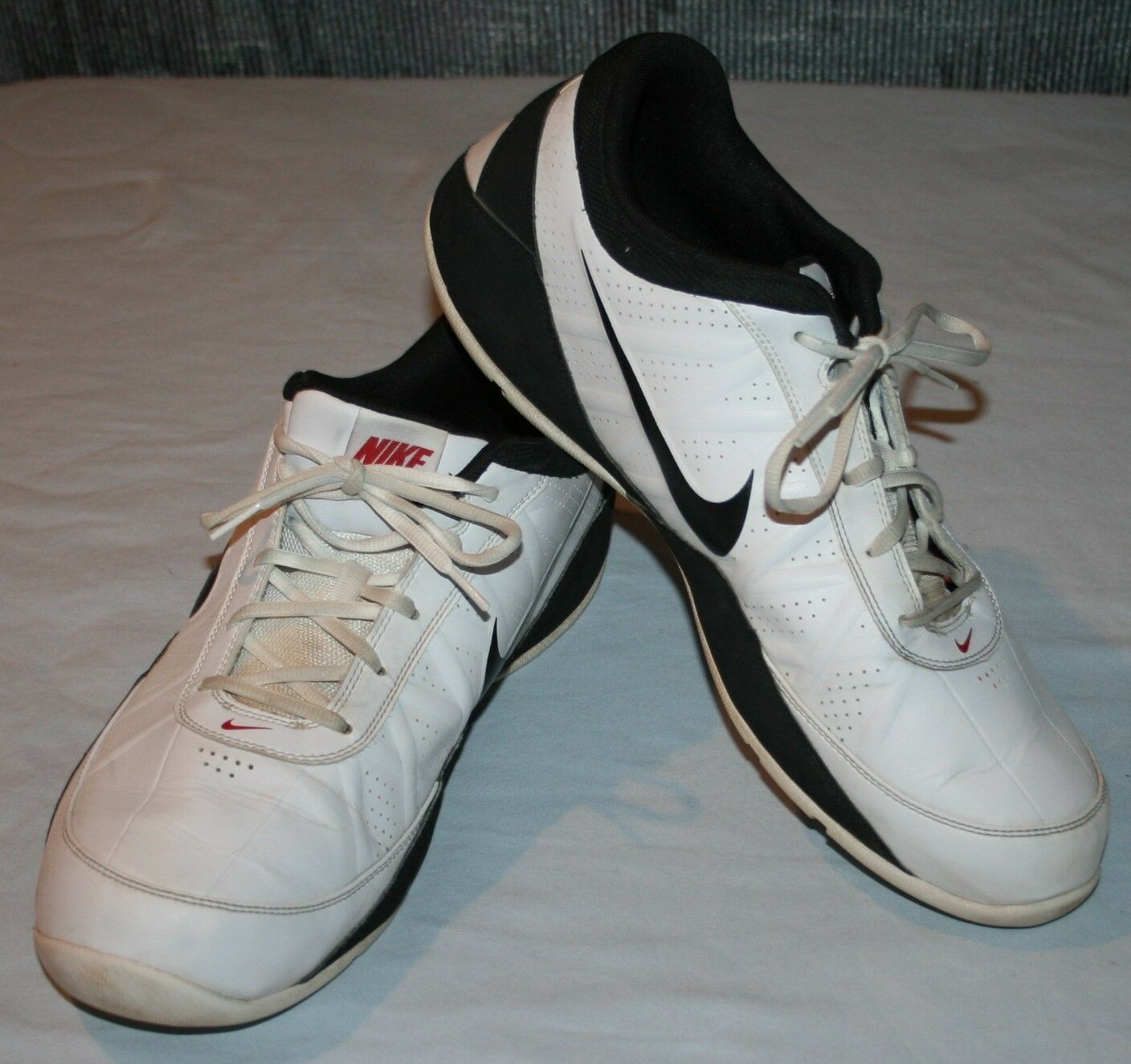 Nike Air Ring Leader Sz 15 Low Rise Sneakers Athletic Shoes 488102 White Mens