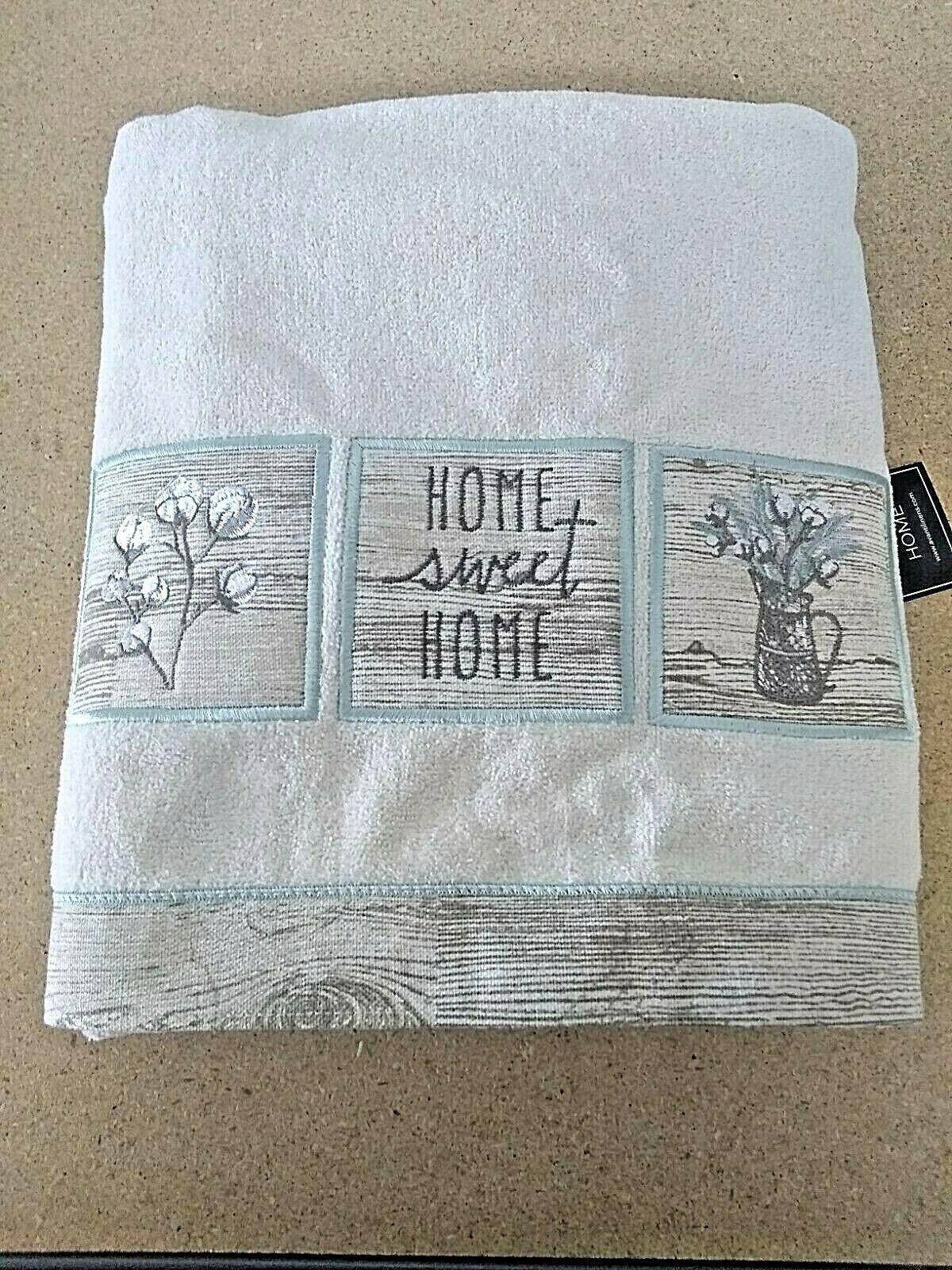 Avanti Linens Sweet Home Set of 2 Towels - Ivory  new with tags