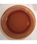 "Anchor Hocking Amber Glass Pie Plate 9"" Baking Holds .75 Quart #460 USA - $29.39"
