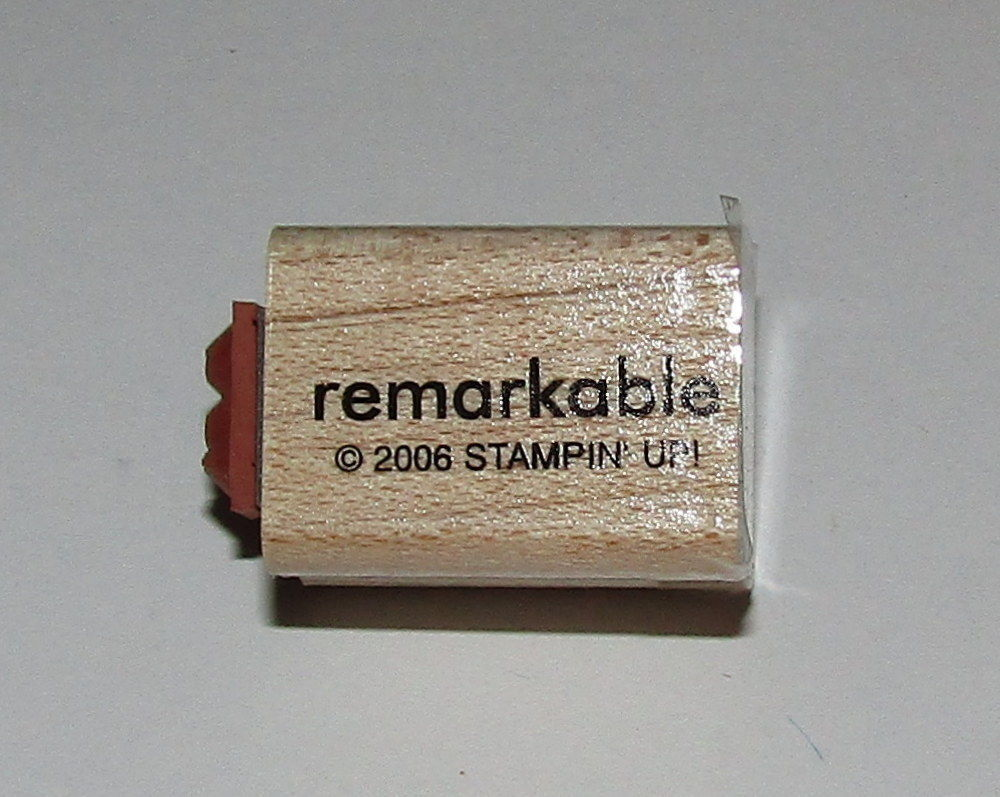 "Primary image for Remarkable To A Rubber Stamp Mini Words Stampin Up Two-In-One WM 1"" Long"