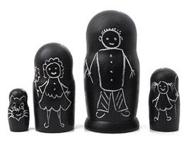 "Chalkboard Matryoshka Doll 4pc./5"" - $20.00"
