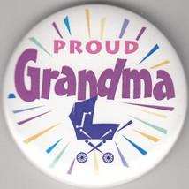 "Proud Grandma! Birth Announcement Button Pin, 2"" x 2"", New, Pin Back - $4.99"