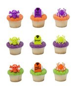 Halloween Party Haunted Assortment Cupcake Rings - 24 pc by Bakery Supplies - £8.84 GBP