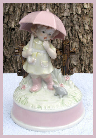 Little Girl Musical Figurine Raindrops Keep Falling  Bonanza