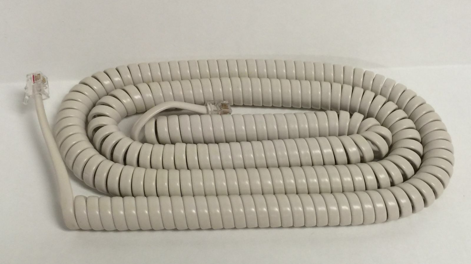 New 25 Ft Long Handset Receiver Curly Cord for Panasonic Phone - off white color