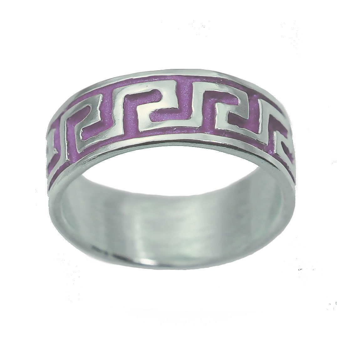 Lilac STERLING SILVER 925 Celtic infinity knot Tattoo Design Tribal Ring