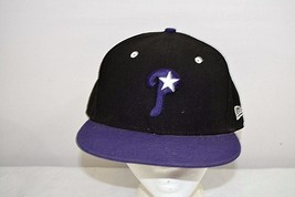 Philadelphia Phillies Black / Purple Bill Baseball Cap Fitted 7 5/8 - $24.99