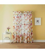 "CHF Sabel Watercolor Floral Print Window Sheer Curtain 50"" x 84"" - $22.28"