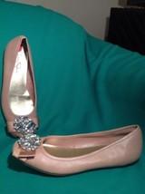 Jessica Simpson Lepolia 6M Women's Mauve Leather Ballet Flats Shoes Jewelled Bow - $39.59