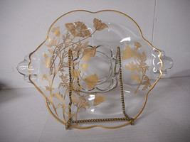 Duncan Miller Canterbury Gold Overlay Serving Plate Beautiful - $23.00