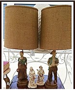 Lamps, Vintage Colonial Man and Wife, Full Size... - $74.20