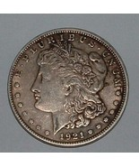 1921 MORGAN DOLLAR SILVER ONE $1 U.S. COIN - ₨3,871.96 INR