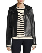 Asymmetrical Long Sleeve Hot Women's Genuine Soft Lambskin Leather biker... - $149.00