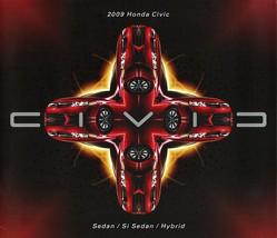 2009 Honda CIVIC SEDAN brochure catalog 09 US Si HYBRID - $6.00