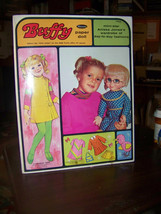 Whitman BUFFY Paper Doll in Folder W/Mostly Uncut Clothes & Mrs Beasley - $5.94