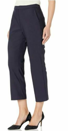Amazon Brand - Lark & Ro Women's Stretch Crop Kick Flare Pant -Atlantic Navy