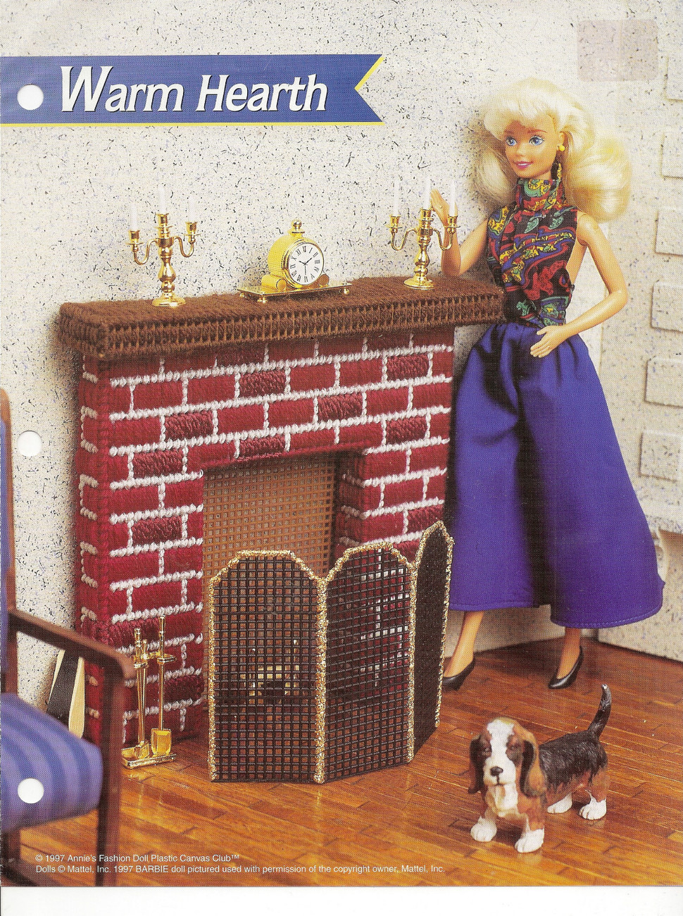 Hearth Annies Attic Fashion Doll Plastic Canvas Club DollHouse Pattern ...