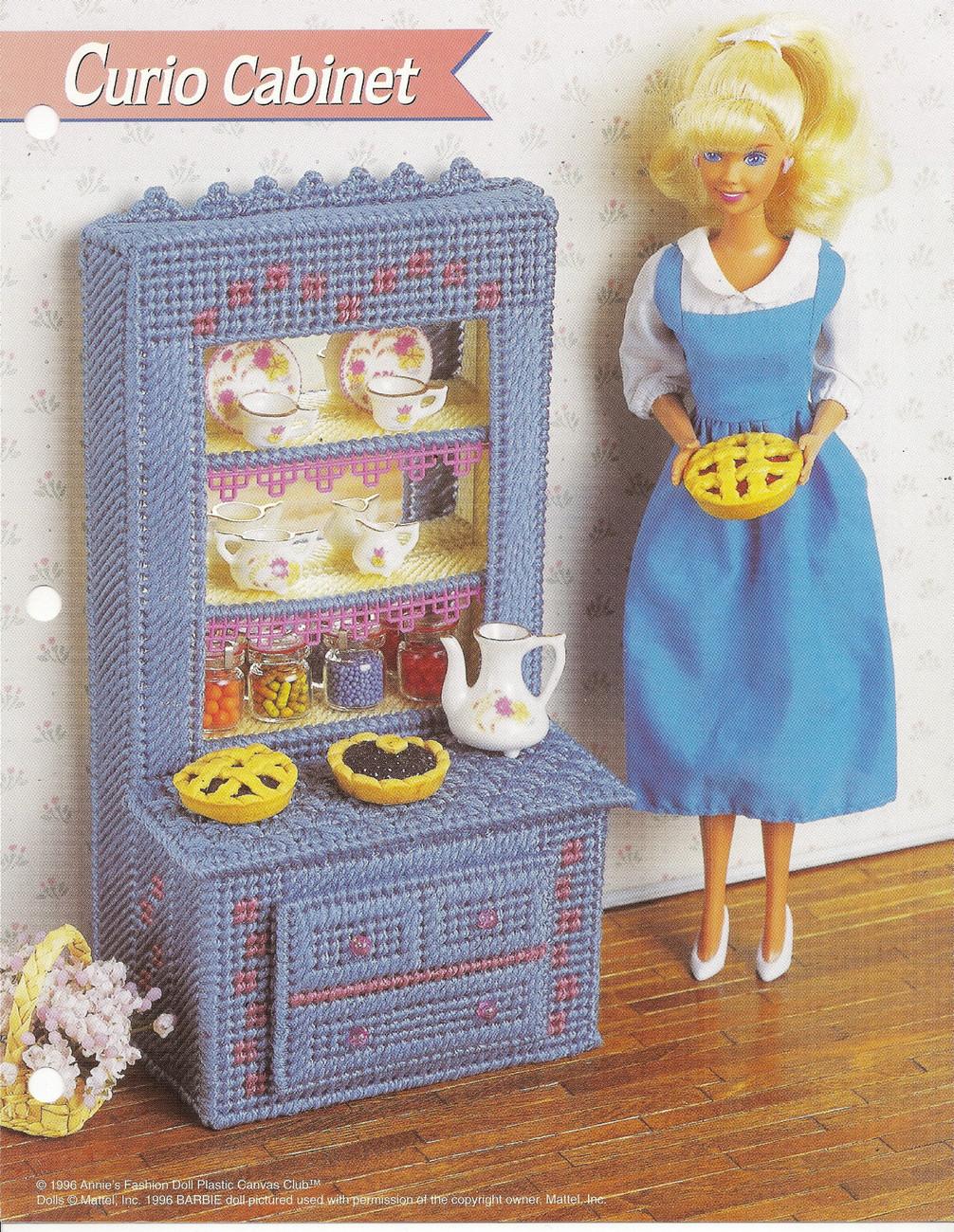 Curio Cabinet Annies Attic Fashion Doll Plastic Canvas