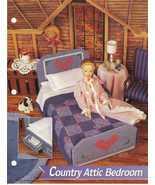 Country Attic Bedroom Annies Attic Fashion Doll Plastic Canvas Club Pattern - $7.50
