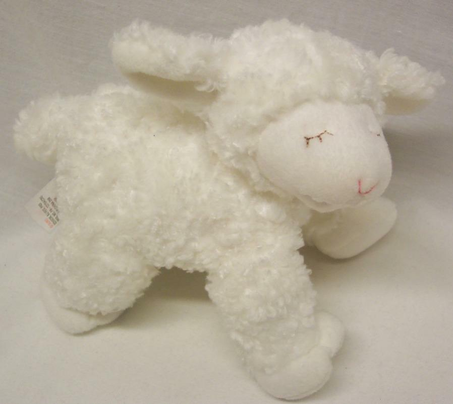 "Primary image for Baby Gund SOFT WHITE WINKY THE LAMB RATTLE 8"" Plush Stuffed Animal Toy"