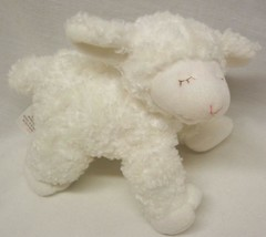 "Baby Gund SOFT WHITE WINKY THE LAMB RATTLE 8"" Plush Stuffed Animal Toy - $14.85"