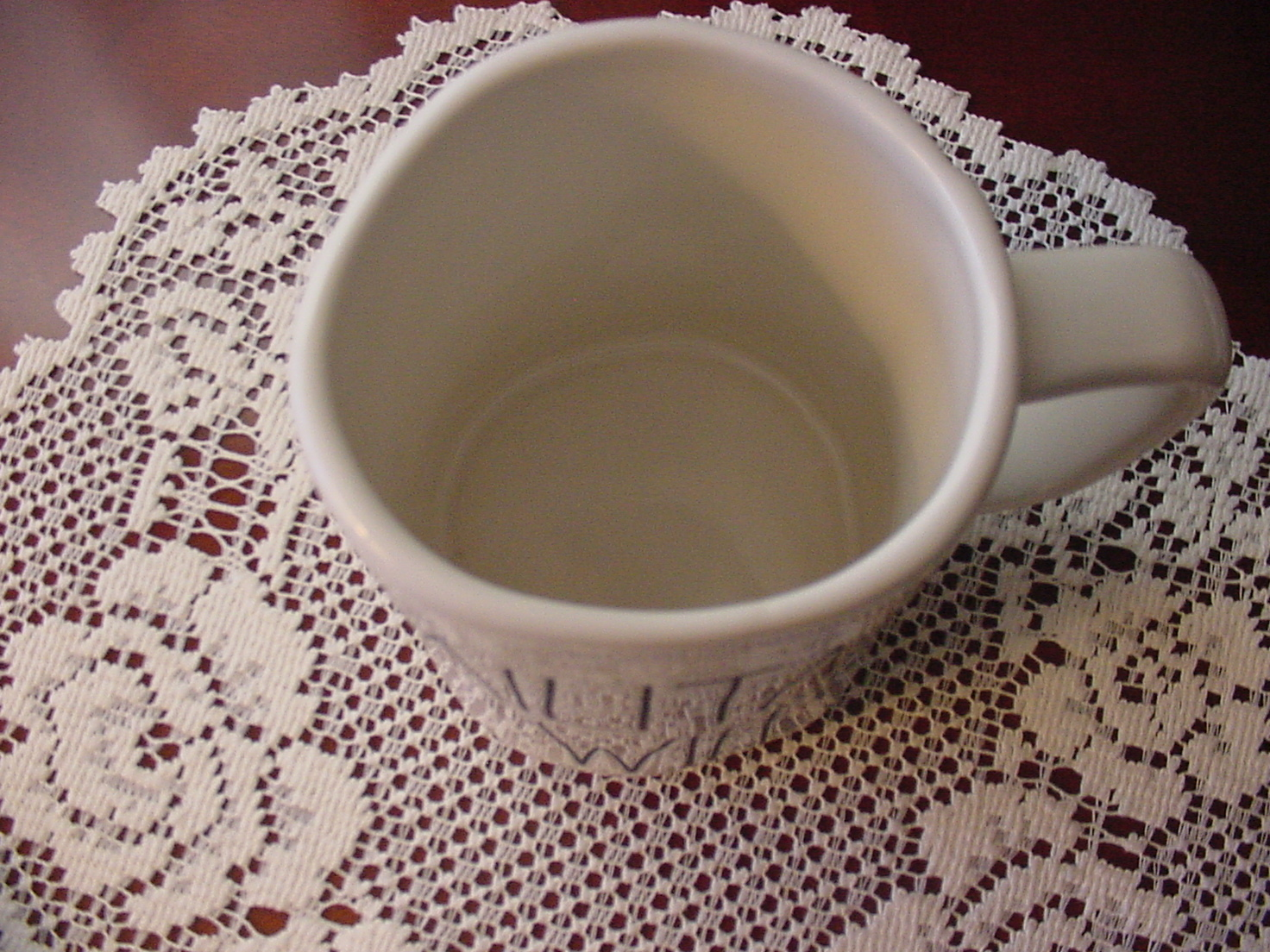 Rae Dunn MILITARY WIFE Rustic Mug, Ivory with Black Letters, New!