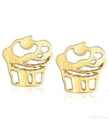 Cupcakes 14K Gold Filled Pair Earrings Warranty High Quality Trendy Chic - $23.36