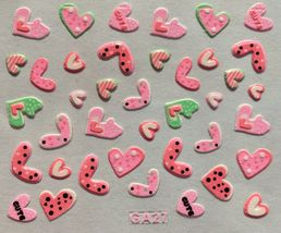 BANG STORE Nail Art 3D Decal Stickers Pink Hearts Cute Valentine's Day  - $3.68
