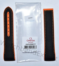 Original Omega Seamaster 22mm (For Calibre 9900) Black/ Orange Rubber Band Strap - $385.00