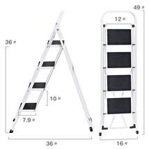 Folding 4 Step Ladder Ladder With Convenient Handgrip Anti-Slip Wide Ped... - $86.84