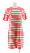 Isaac Mizrahi Choice Print Elbow Sleeve T-Shirt Dress Tea Rose M NEW A30... - $35.62