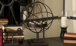 "22"" Iron 7 Tealight Candler Holder Globe Sphere Freestanding or Hanging image 3"