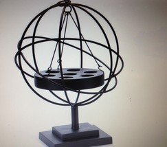 "22"" Iron 7 Tealight Candler Holder Globe Sphere Freestanding or Hanging"