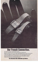 1975 Christian DIOR Collection BULOVA watch print ad - $9.99