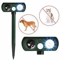 Dog Repellent, Outdoor Solar Powered & Weatherproof Ultrasonic Dog/Cat/M... - $22.54