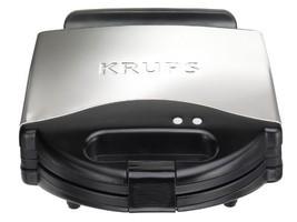 KRUPS F 654 ELECTRIC 4 SLICE BELGIAN WAFFLE MAKER STAINLESS STEEL/BLACK ... - ₹10,649.14 INR