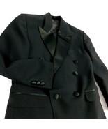 Rafael Boys Black Tuxedo Suite Jacket  Pants Size 10R Wedding Ringer Bearer - $22.99
