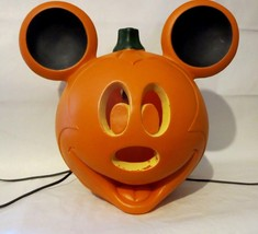 Mickey Mouse Halloween Disney Light Up Jack O'Lantern Pumpkin 11 Inch Tall - $15.19