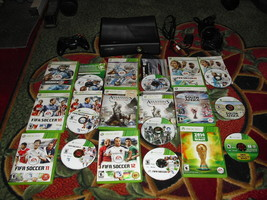 Microsoft Xbox 360 S Slim Model 1439 4GB Black Console W/ 9 games and controller - $178.19