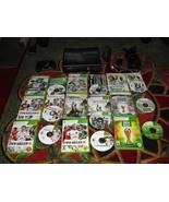 Microsoft Xbox 360 S Slim Model 1439 4GB Black Console W/ 9 games and co... - $178.19