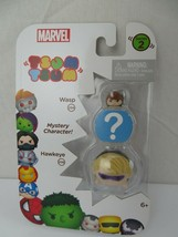 Wasp & Hawkeye & Mystery Character Marvel Tsum Tsum Series 2 Toy New - $9.89